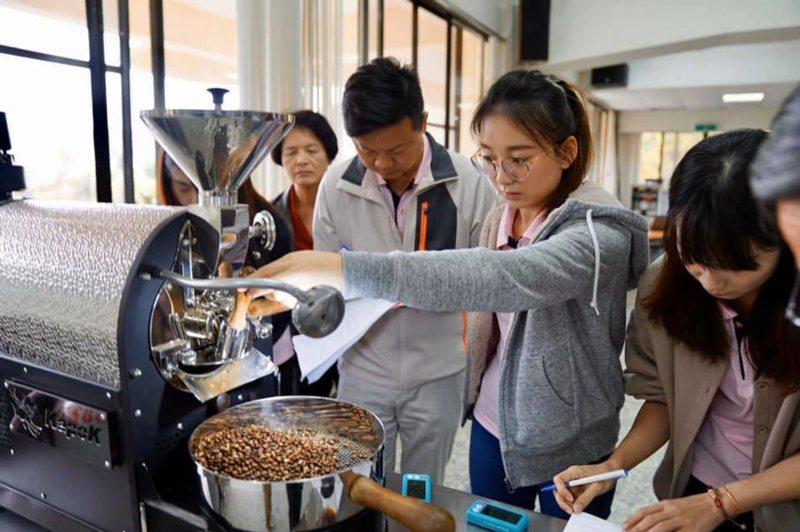 台中市農會打造四角林咖啡莊園,共種植近8000株咖啡樹,因低度開發,並保持原始生...
