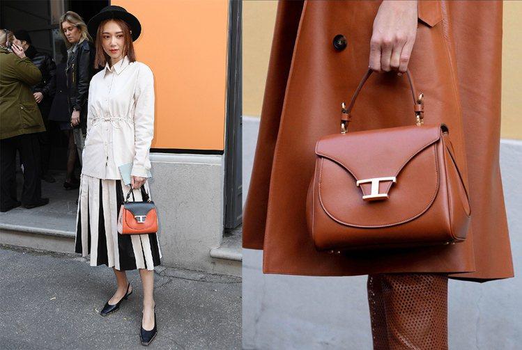 左:Timeless系列包款搭配風格不同的服裝都能襯顯女性其獨特姿態。右:Tim...