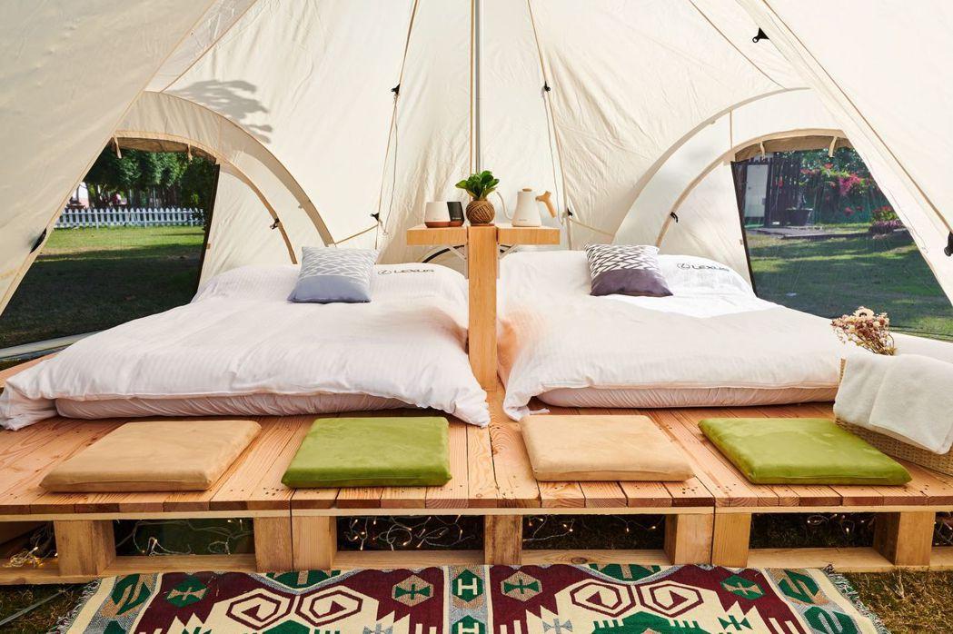 LEXUS X Snow Peak奢白大地帳,寬敞挑高的設計,提供舒適奢華的休憩...