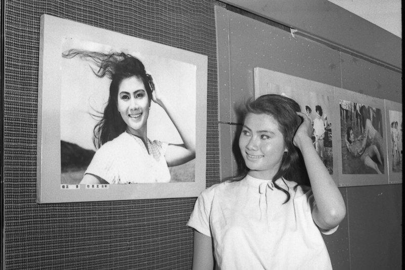 《啞女情深》女主角王莫愁,也是《蚵女》的女主角,圖攝於1963年。 圖/聯合報系資料照