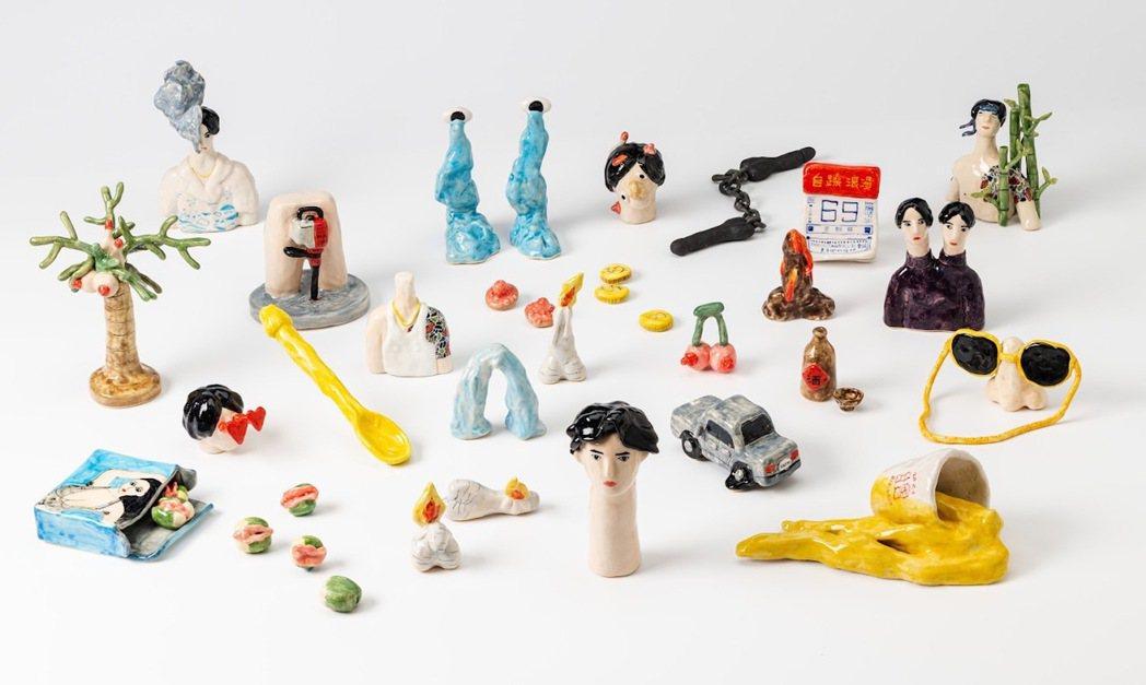 新專輯視覺與陶瓷黏土雕刻家「火山販賣鋪」合作,內頁照片穿插許多如「奶頭檳榔樹」、...