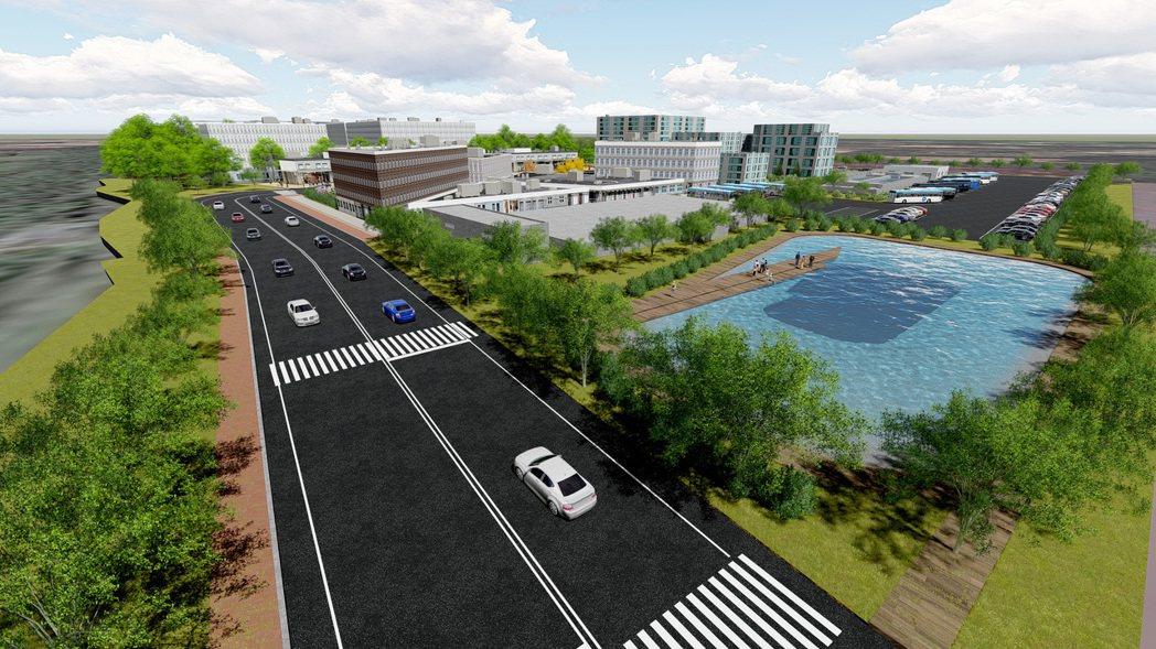 公共設施完善模擬示意圖。 玉新開發/提供
