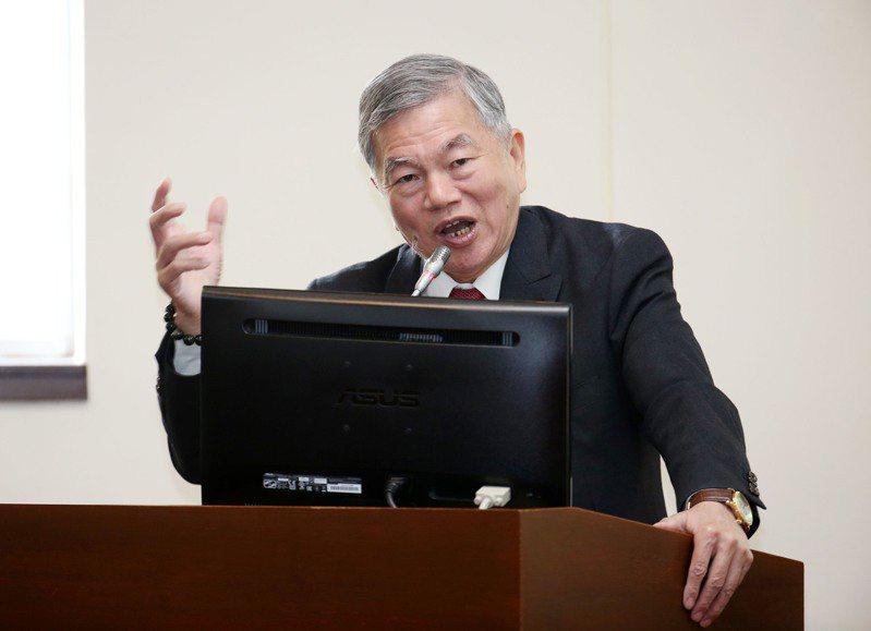 經濟部長沈榮津。 聯合報記者邱德祥/攝影