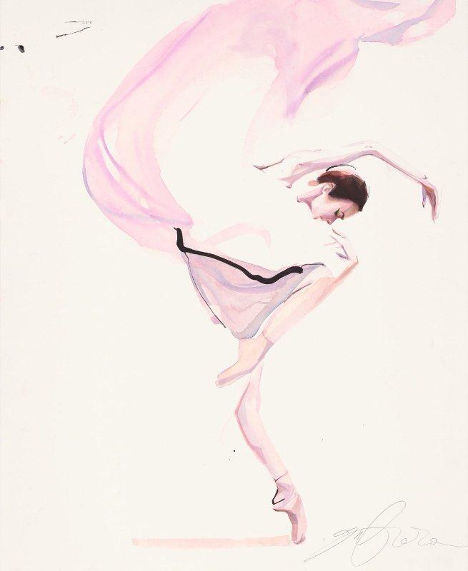 塗至道擅長以水彩繪出既美麗又有態度的女子。塗至道/提供