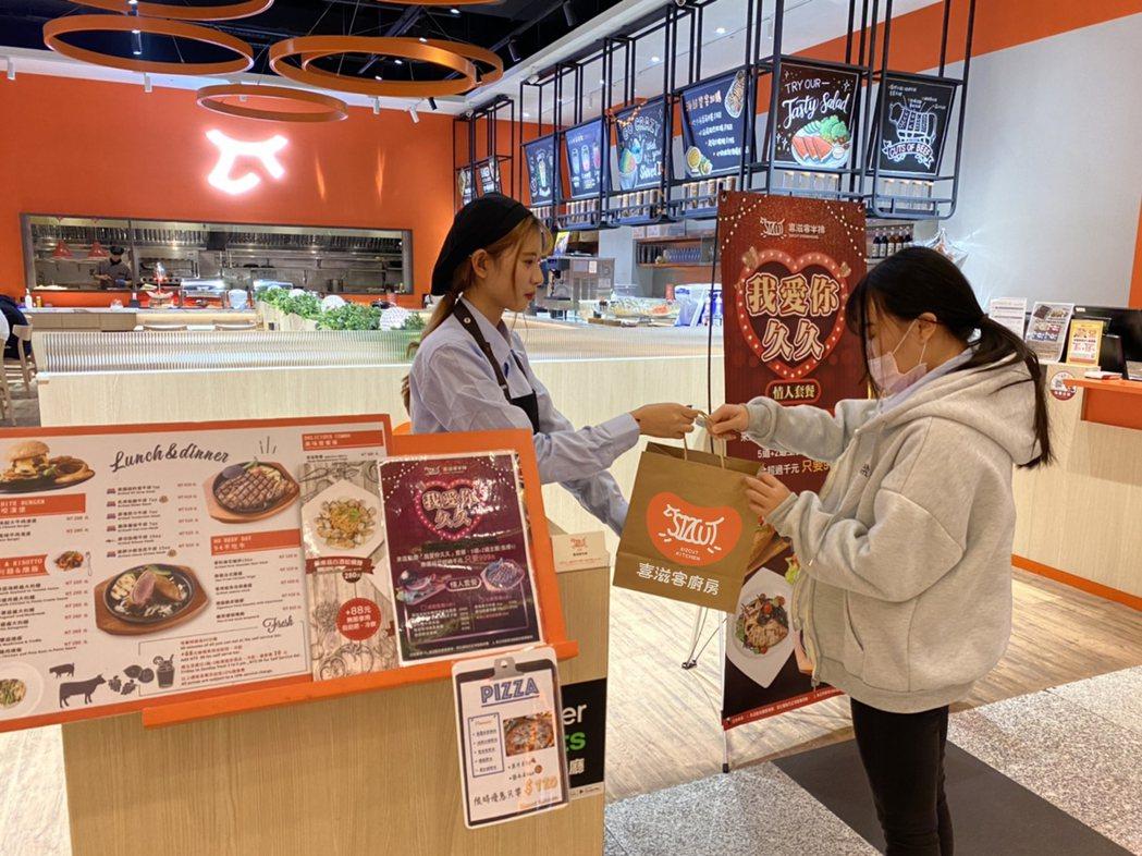 「喜滋客廚房」觀察發現二月份餐飲外帶比例,較上月增加三成,顯現消費者用餐習慣有所...