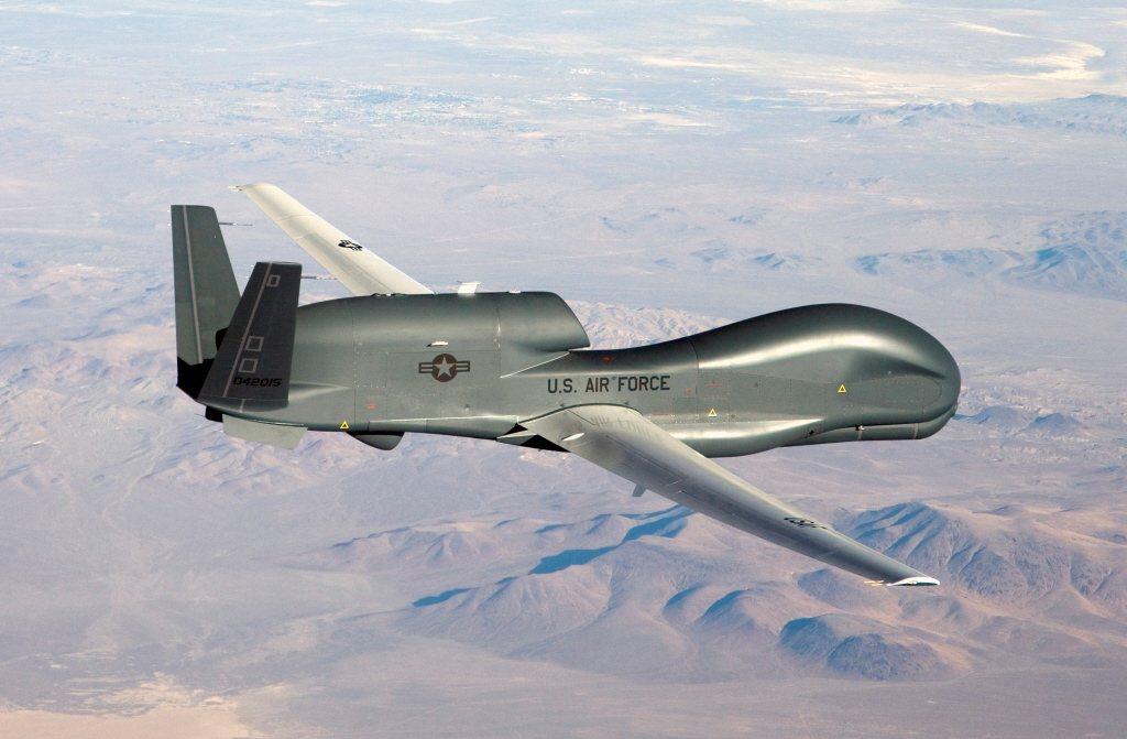 美空軍「全球鷹」(Global Hawk)無人偵查機。 圖/路透社