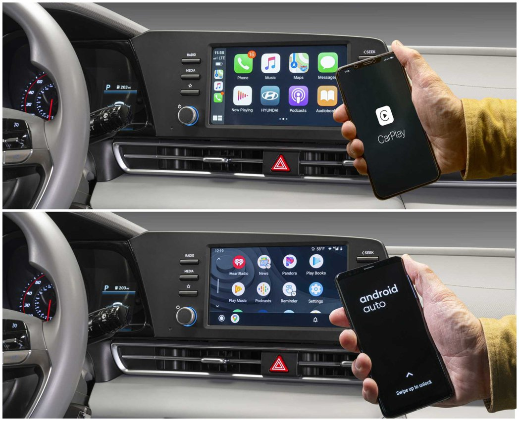 Elantra也支援了無線Apple CarPlay和Android Auto系...