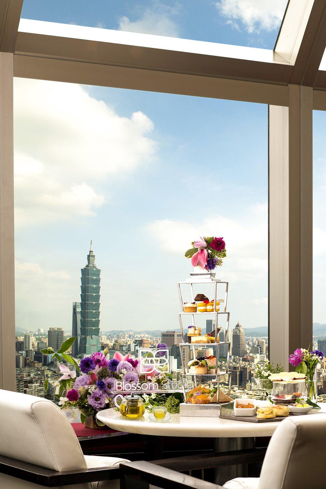 香格里拉台北遠東馬可波羅酒廊-馬可曉·花事 花漾午茶。