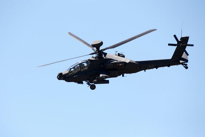 AH-64E攻擊直升機。 圖/聯合報系資料照