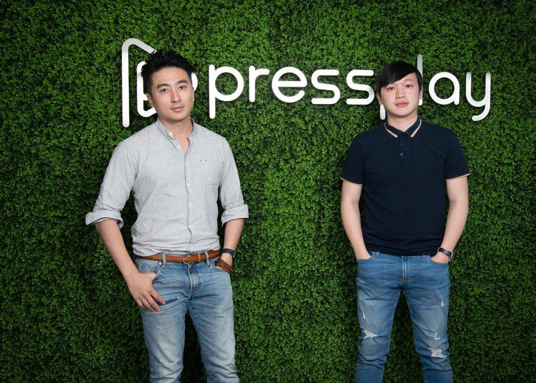 PressPlay創辦人林鼎鈞、郭全榮。(黃明堂攝)