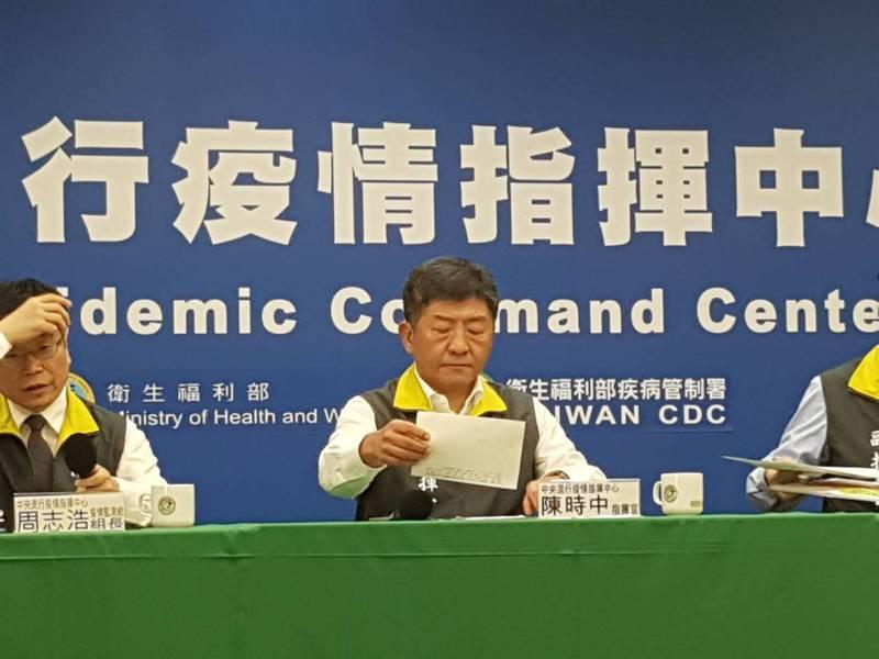 陳時中表示,等到大量外國人進來就來不及了。聯合報記者楊雅棠/攝影