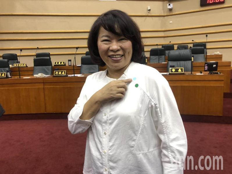 嘉義市長黃敏惠承諾,市府北棟大樓一定會蓋。記者李承穎/攝影