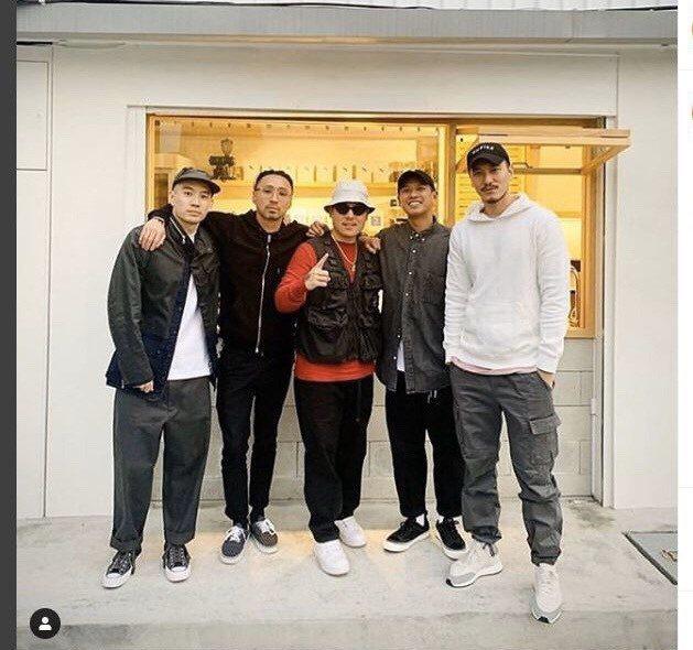 台裔美籍名廚黃頤銘(中)被爆從洛杉磯返台後沒自主管理,還和王陽明(右)等友人聚餐