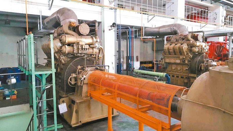 新北市部分抽水機組逾20年,有必要提升設備效率,圖為湳仔溝抽水站機組更新前。 圖/新北市水利局提供