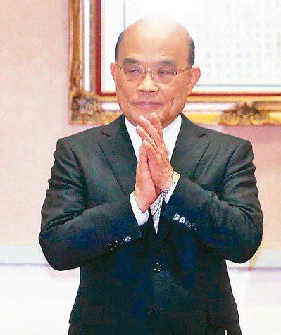 行政院長蘇貞昌認為政治人物不宜擔任官股公司董事長的態度明確。 圖/聯合報系資料照片