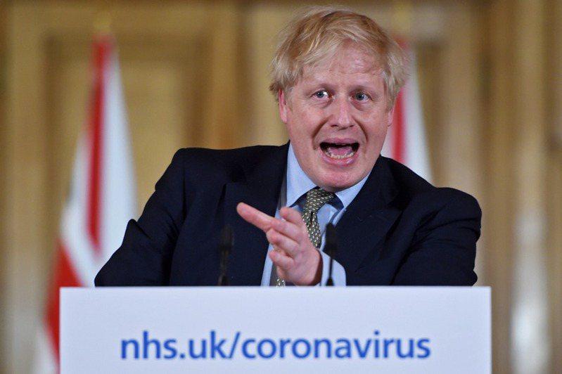 圖為英國首相強生。 歐新社