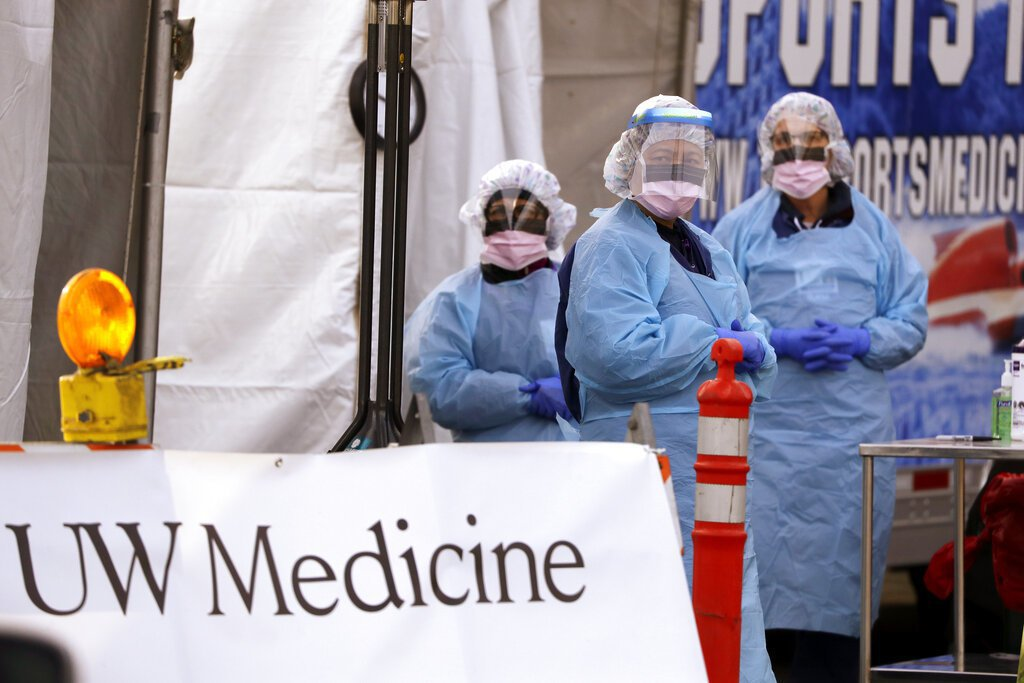 新冠肺炎疫情快速燃燒到全世界。美聯社