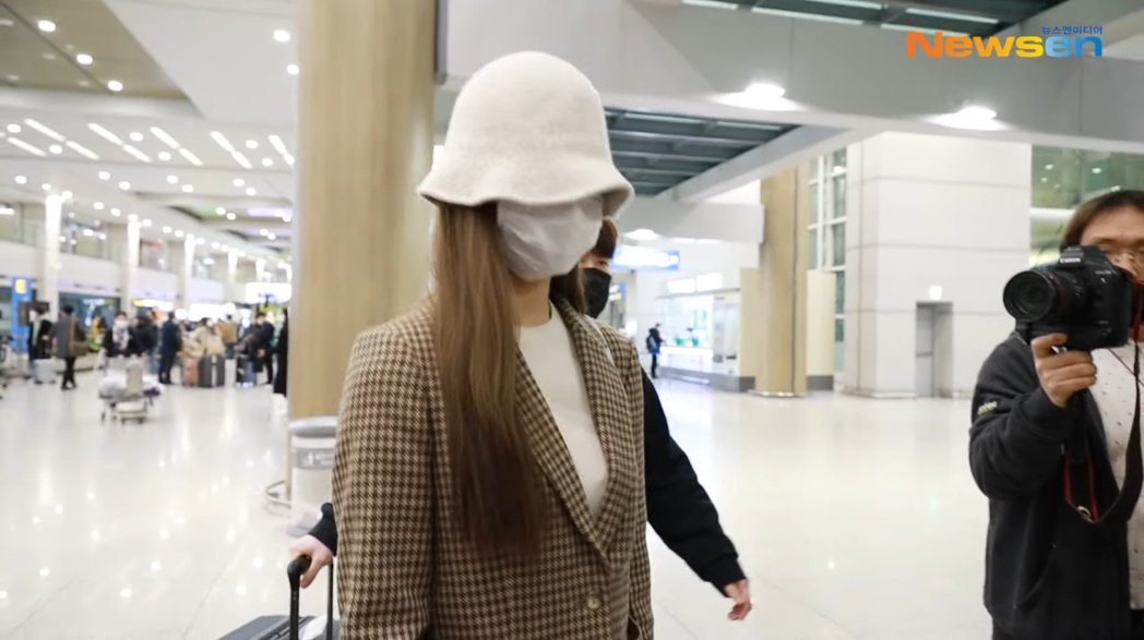 子瑜居家檢疫14天結束後,就立即返回韓國。 圖/擷自Youtube