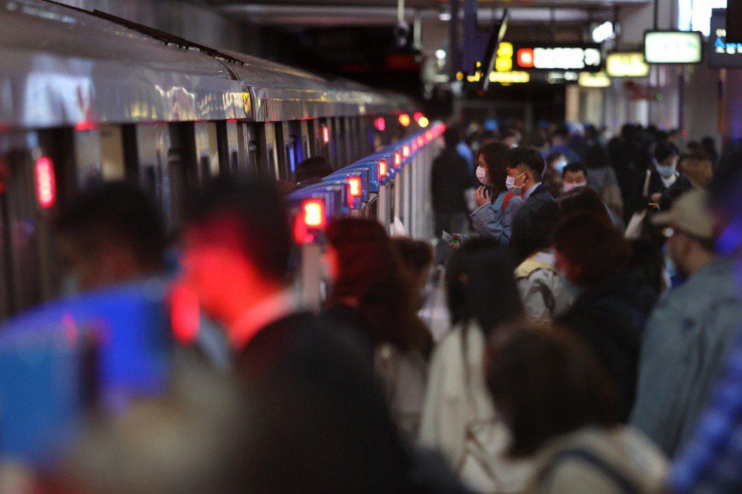 攝於台北捷運。 圖/聯合報系資料照