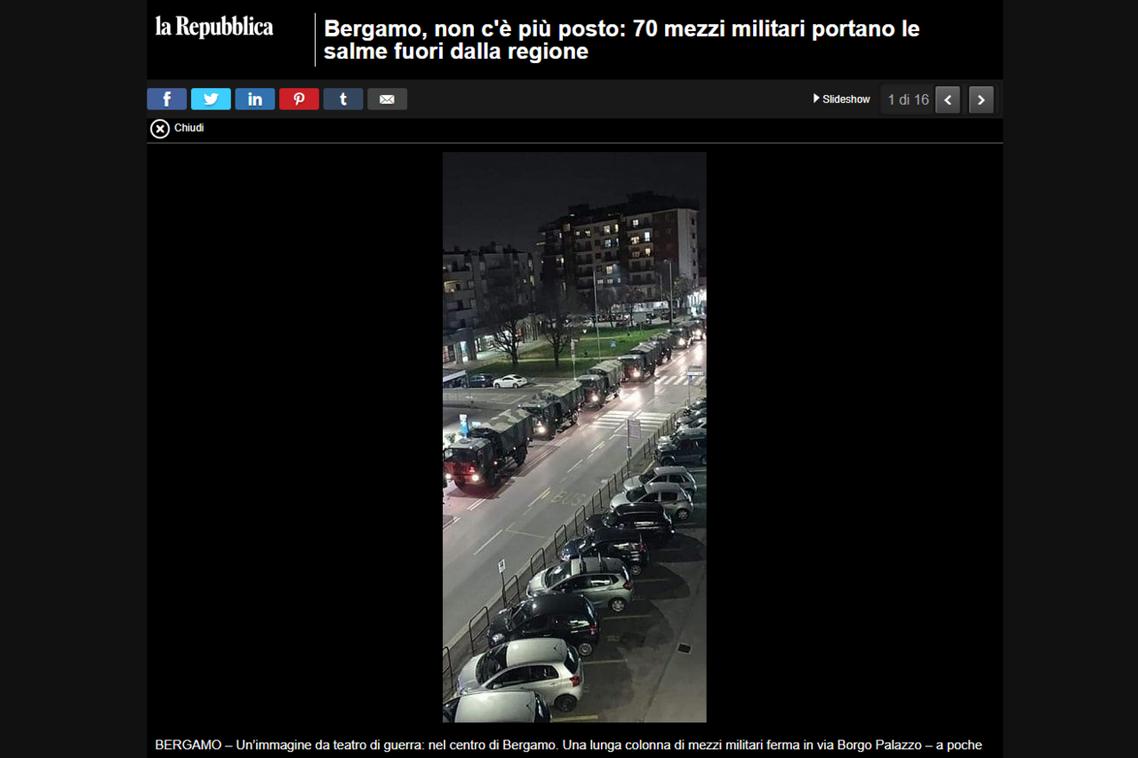 義大利18日全國24小小時內多出了4,205人感染,並新增475人死亡。圖為義大...