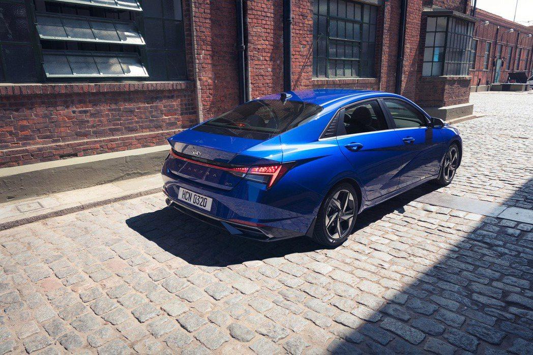 全新第七代Hyundai Elantra。 摘自Hyundai