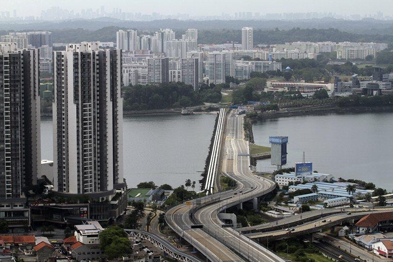馬來西亞鎖國政策生效後的新柔長堤,攝於3月18日。 圖/美聯社
