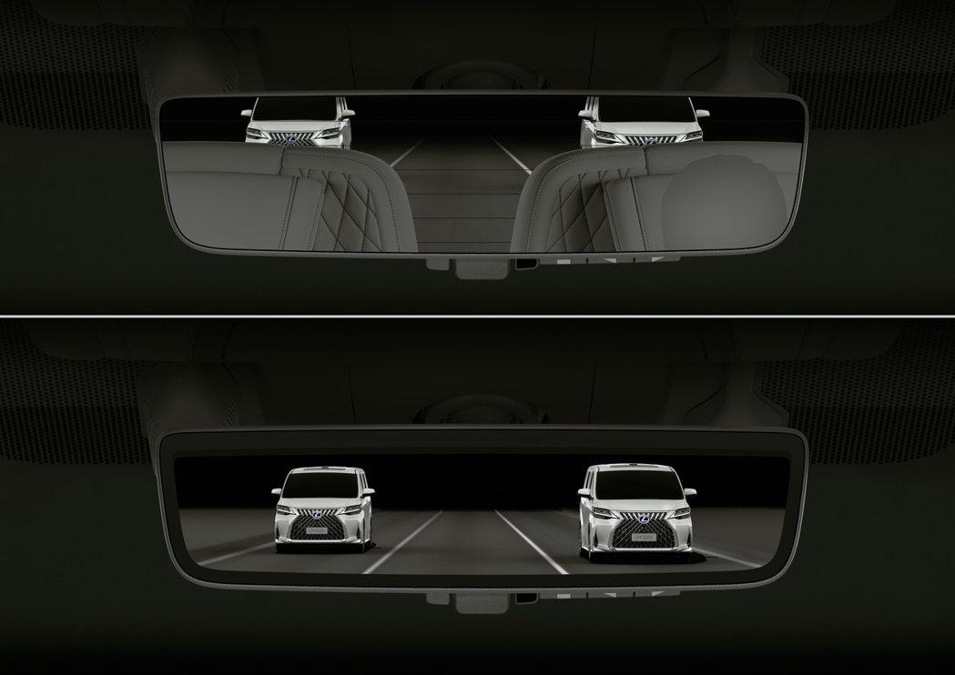 LM數位影像車內後視鏡。 圖/和泰汽車提供