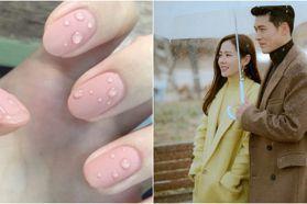 忍不住想擦乾!韓國可愛唯美「雨滴美甲」超夯,搭配霧面指彩美到不行