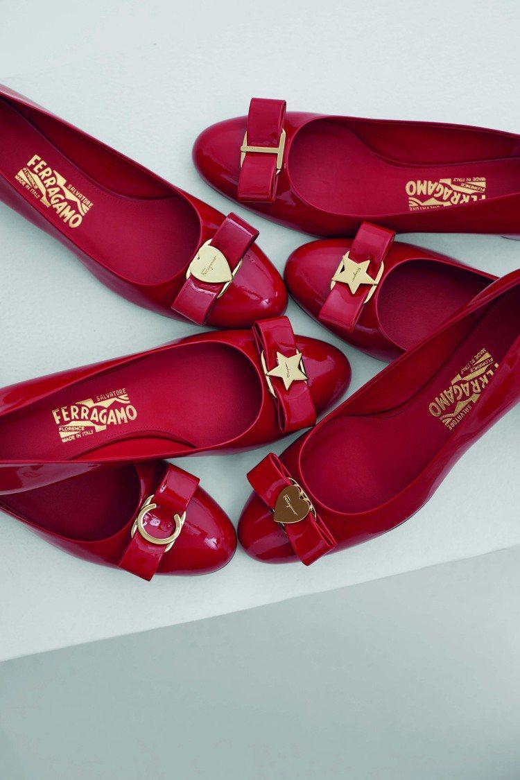 My Vara鞋款訂製總共推出唇膏紅、粉紅和黑色三種顏色的鞋款,可選擇的金屬飾件...