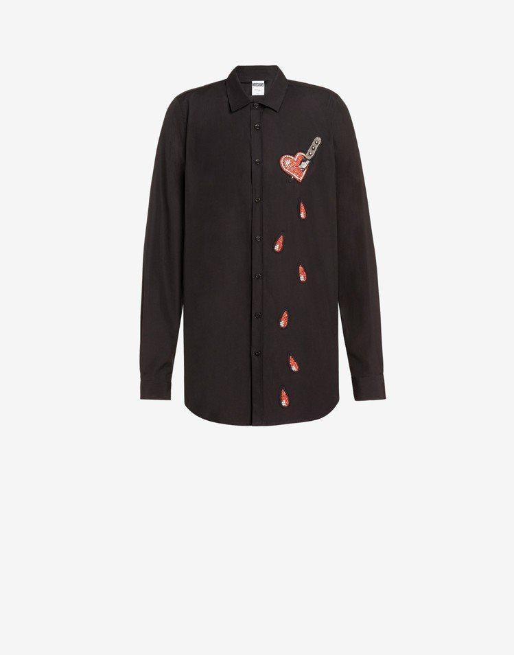 一箭穿心襯衫,24,300元。圖/MOSCHINO提供