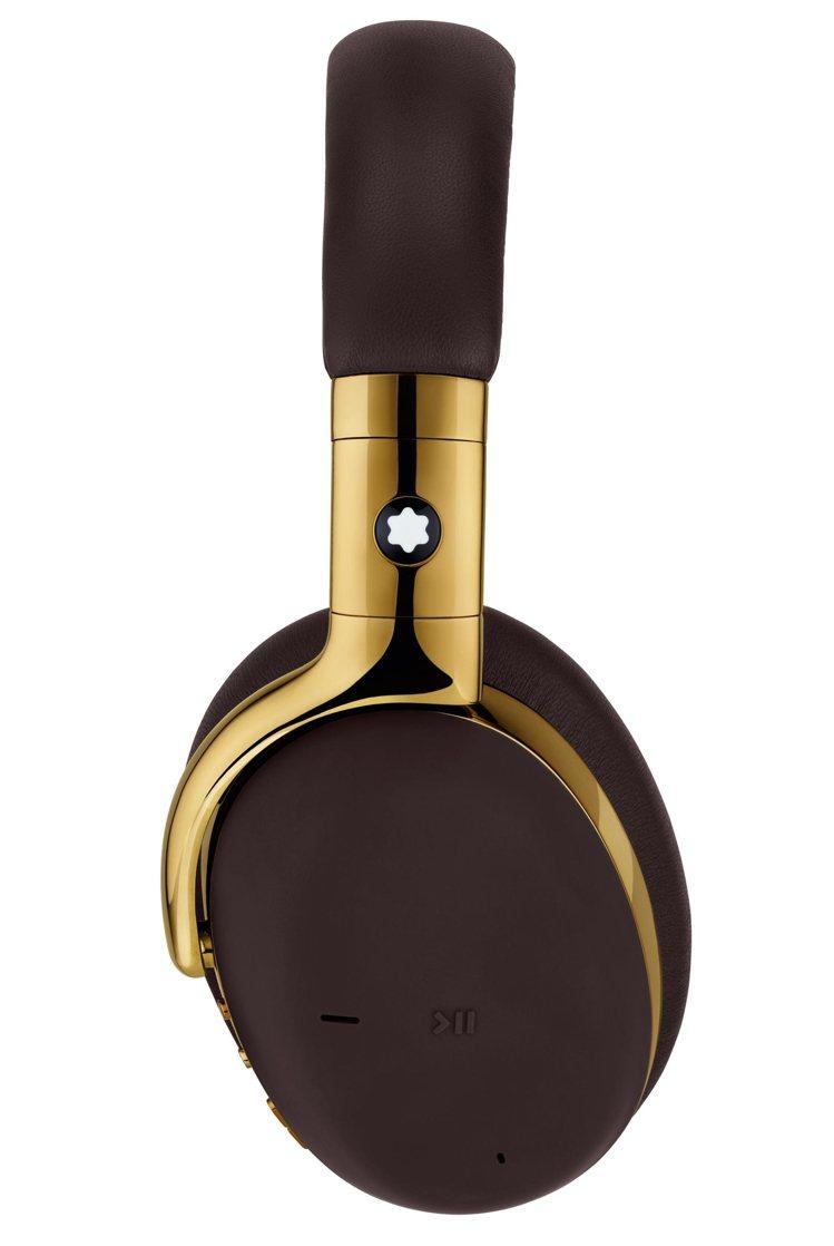除了側邊具有Montblanc的白色六芒星Logo,並可透過耳機側邊按鈕與內建麥...