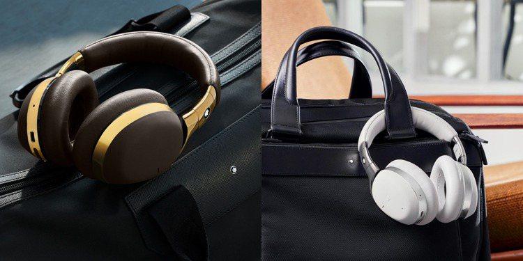 具備三種顏色的新款Montblanc萬寶龍MB 01全罩式智慧耳機,具備主動抗噪...
