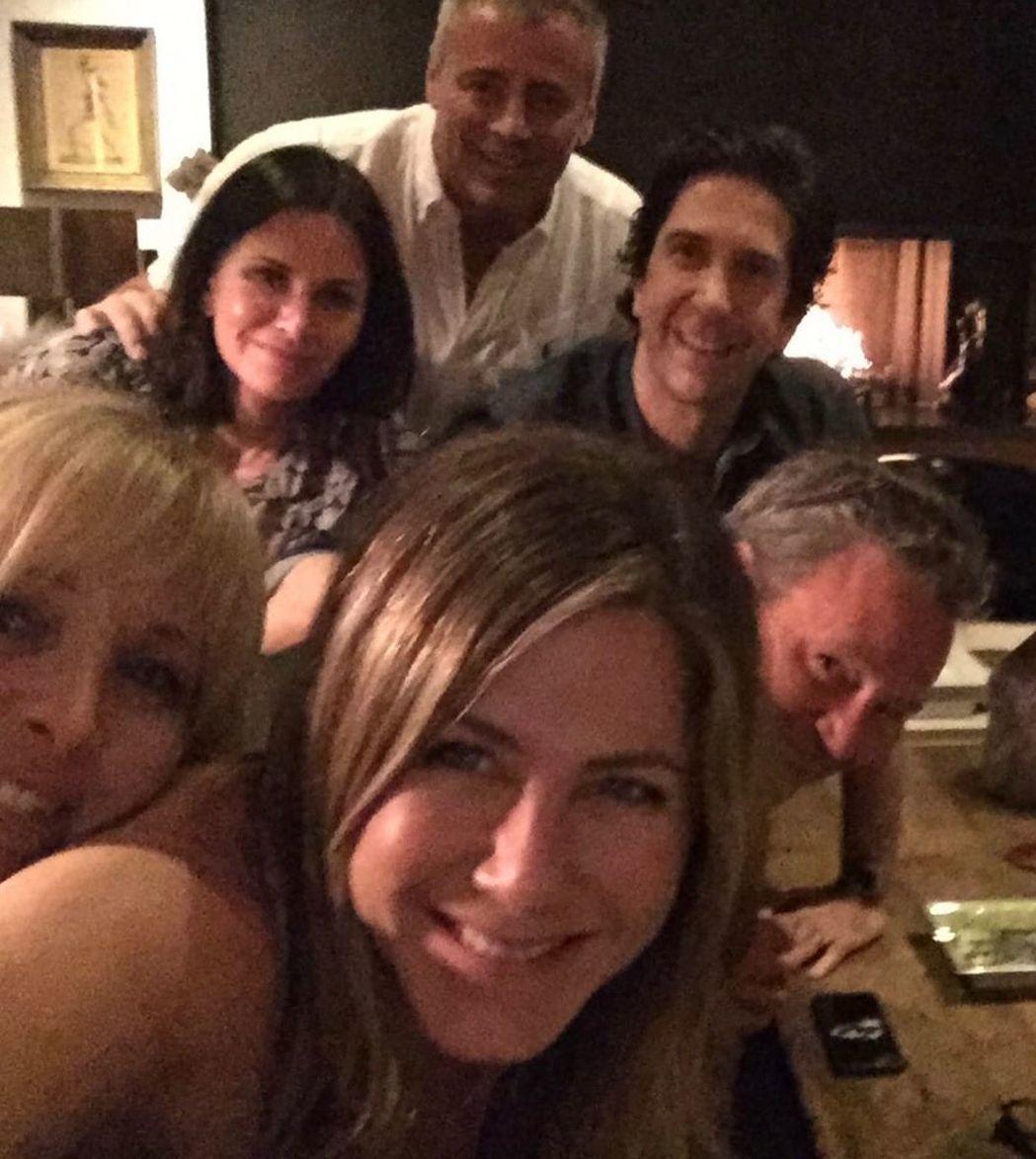 六人行」主角們私下會聚會。圖/摘自Instagram