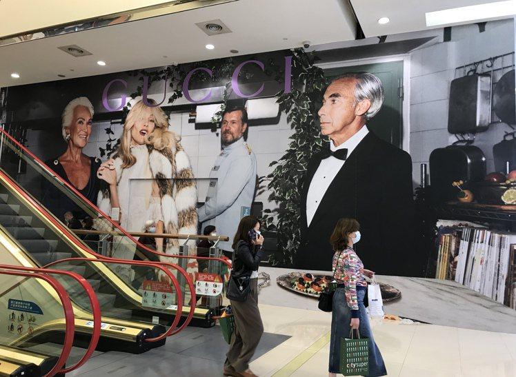Gucci進駐SOGO復興館,預計4月下旬開幕。記者江佩君/攝影
