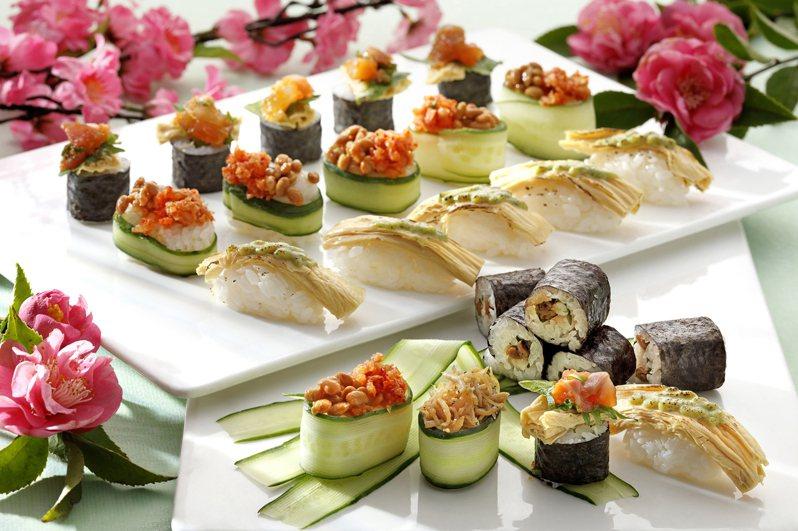 「欣葉日本料理」自助餐提供多款道地和食,為人氣吃到飽餐廳。圖/欣葉提供