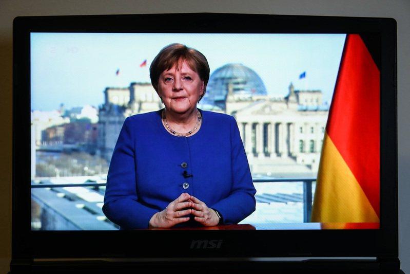 德國總理梅克爾十八日晚間罕見發表全國演說,稱新冠肺炎是二次世界大戰後德國最大挑戰。(新華社)