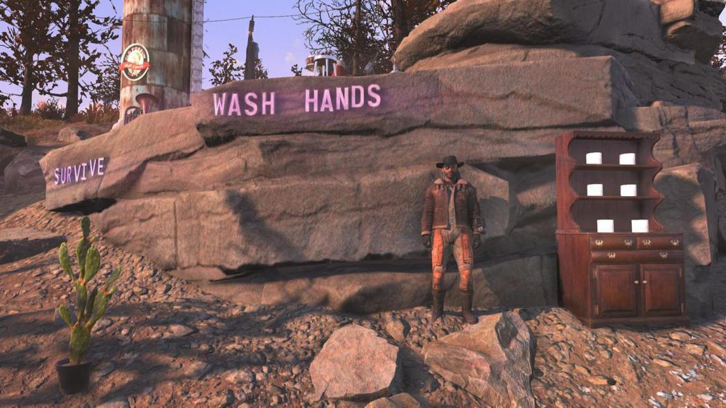 「活下去,勤洗手」。(來源:推特)