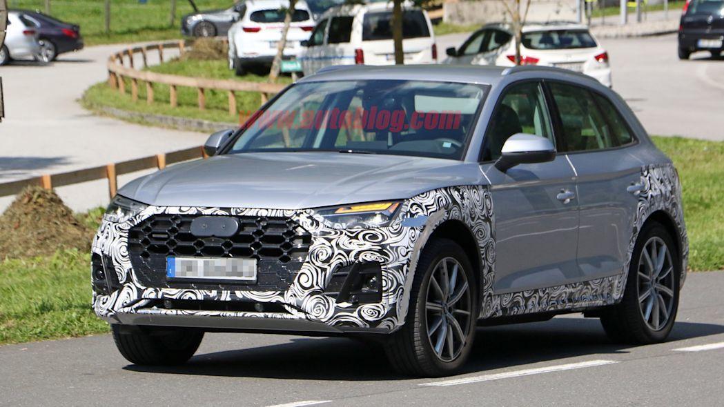 小改款Audi Q5偽裝測試車。 摘自Autoblog