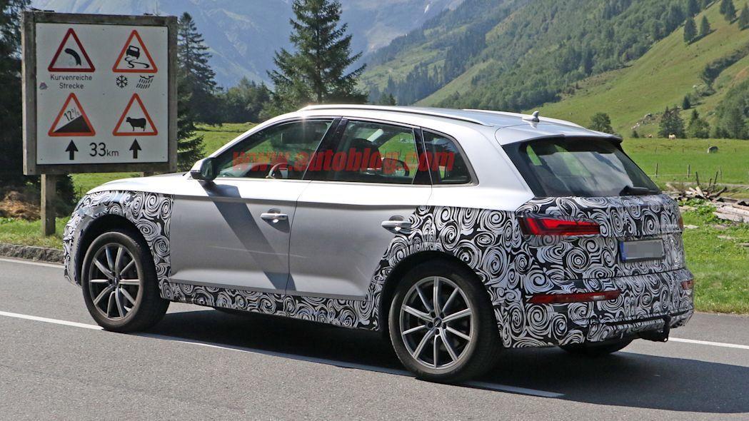 小改款Audi Q5現正測試中。 摘自Autoblog