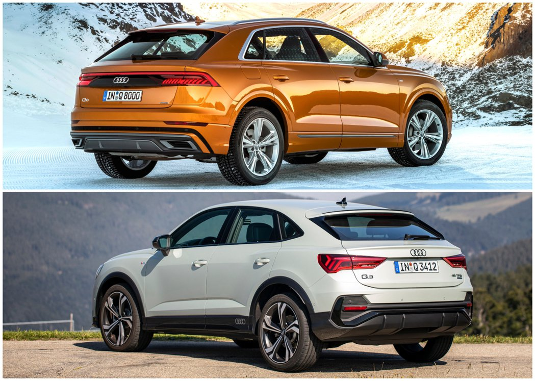 Audi旗下的兩款全新跑旅,分別為Q8 (圖上) 與 Q3 Sportback ...