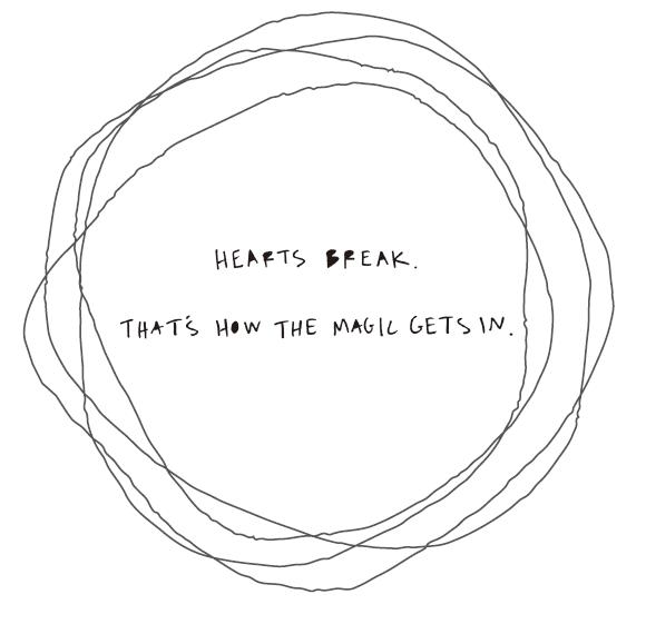 心會碎,但魔法才能從中而生。圖文/采實文化提供