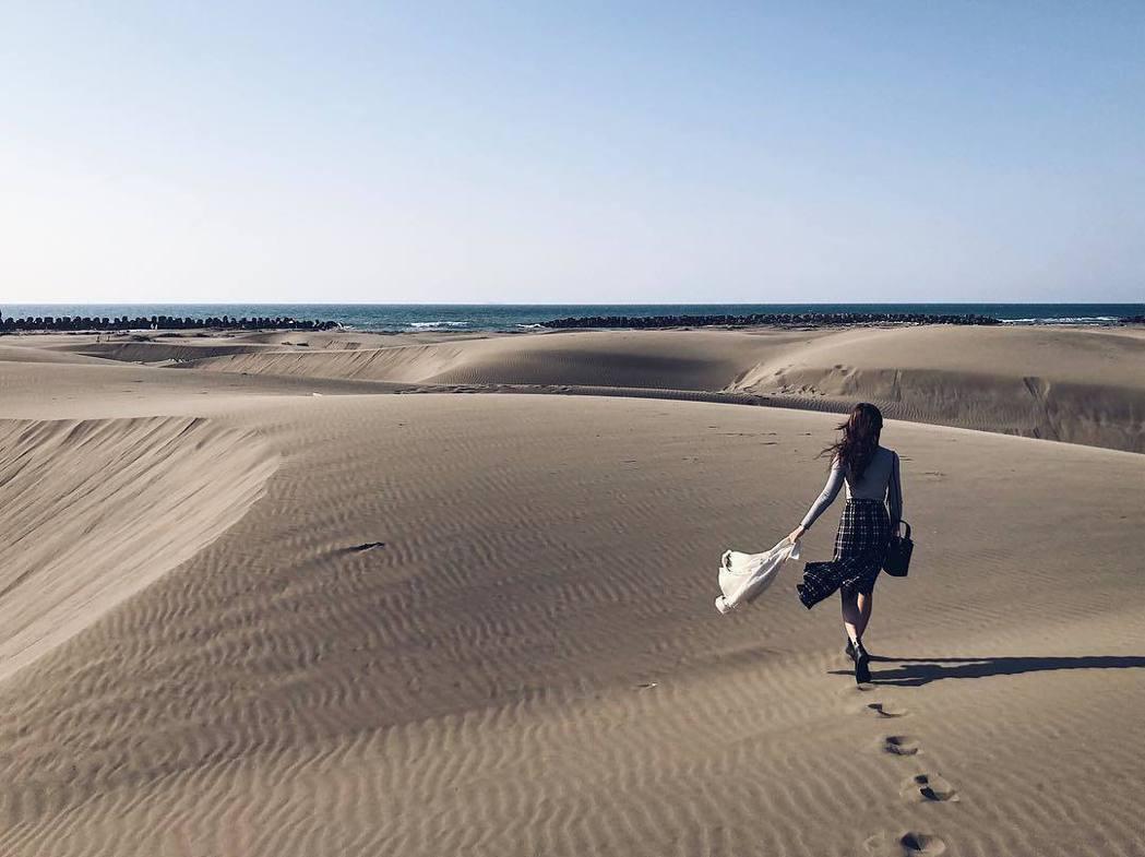 台南頂頭額沙洲有台版撒哈拉沙漠的美稱。 圖/@shelly_yang0807 I...