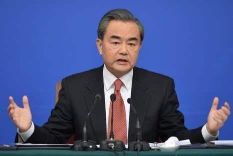 大陸國務委員兼外交部長王毅。圖/取自新華社