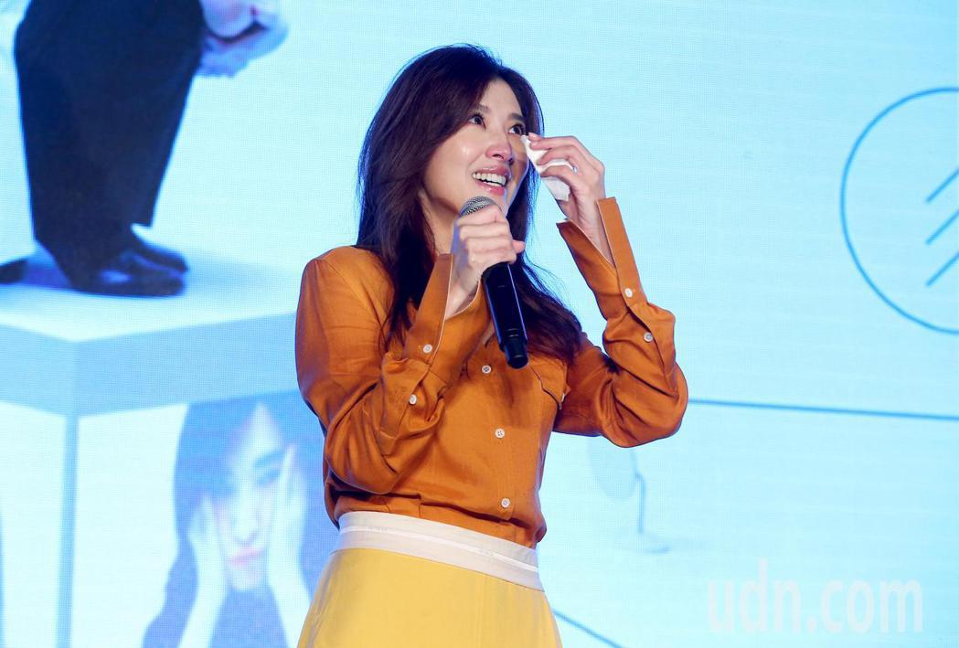 蘇慧倫出席新專輯《面面》發片記者會,看完演藝圈好友與歌迷的MV後感動落淚。記者余...