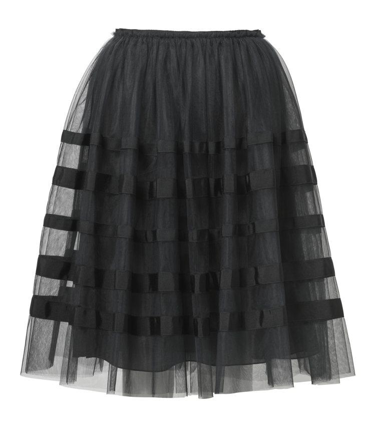 H&M春夏Conscious Exclusive系列黑色紗裙3,499元。圖/H...