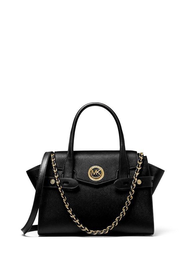 Carmen黑色拼接提包,售價15,900元。圖/MICHAEL KORS提供