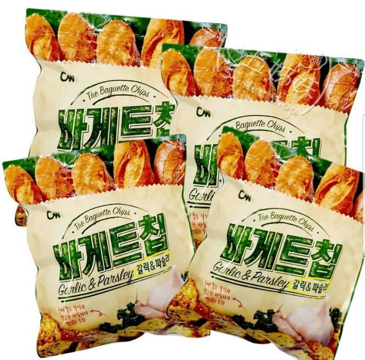 大蒜麵包餅乾400公克,Yahoo奇摩拍賣售價225元。圖/Yahoo奇摩拍賣提...