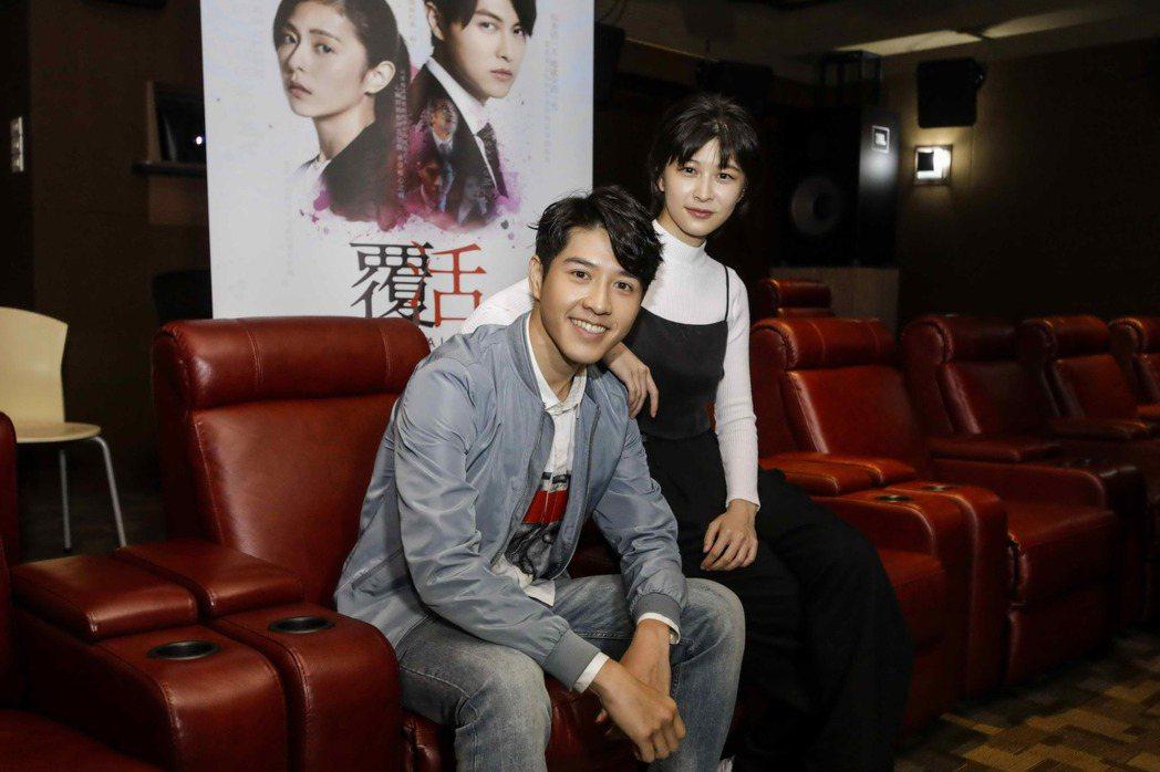 吳岳擎演出「覆活」,邀請好友江沂宸看片站台。圖/八大提供