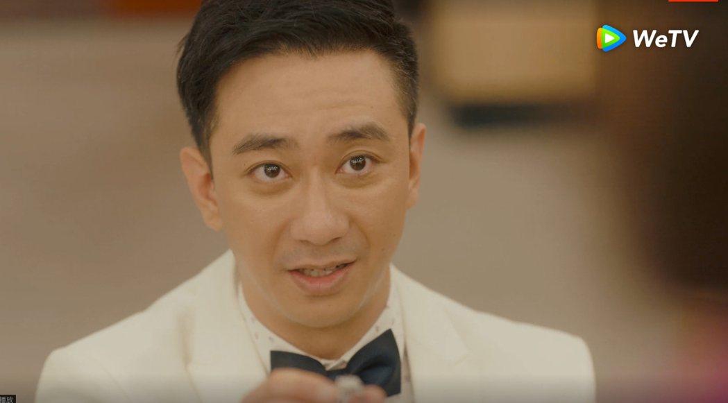王子健向朱閃閃求婚。圖/WeTV提供