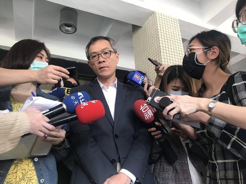 中研院總務處處長張剛維受訪說明。記者葉冠妤/攝影